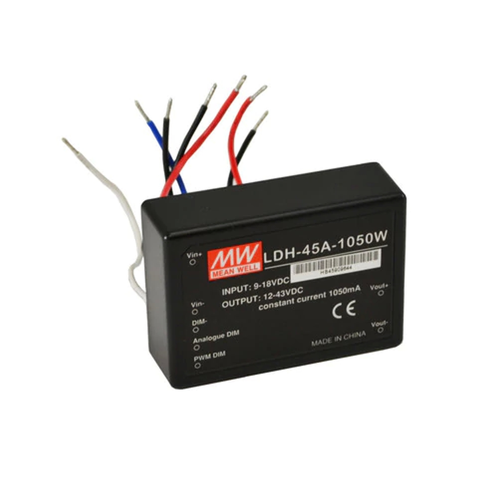 Constant Current Driver 9 18v In 1050ma 12 43v Out Rms Components 24vdc 45a Power Supply Mean Well Supplies