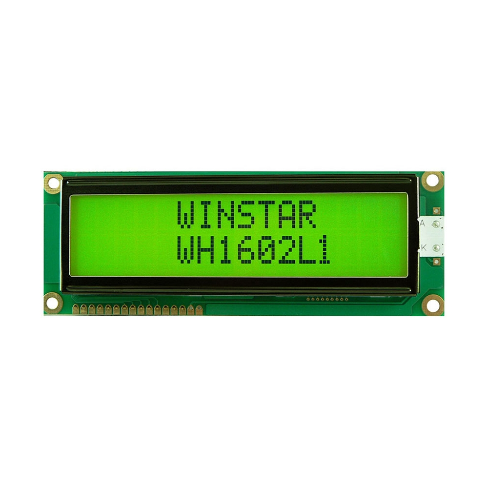 LCD LED DISPLAY MODULE 16x2 YELLOW/GREEN BACKLIGHT STN POSITIVE
