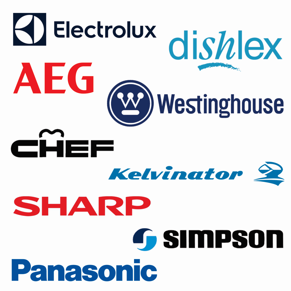 Appliance Spare Parts - AEG, CHEF, Dishlex, Electrolux, Kelvinator, Panasonic, Sharp, Simpson & Westinghouse